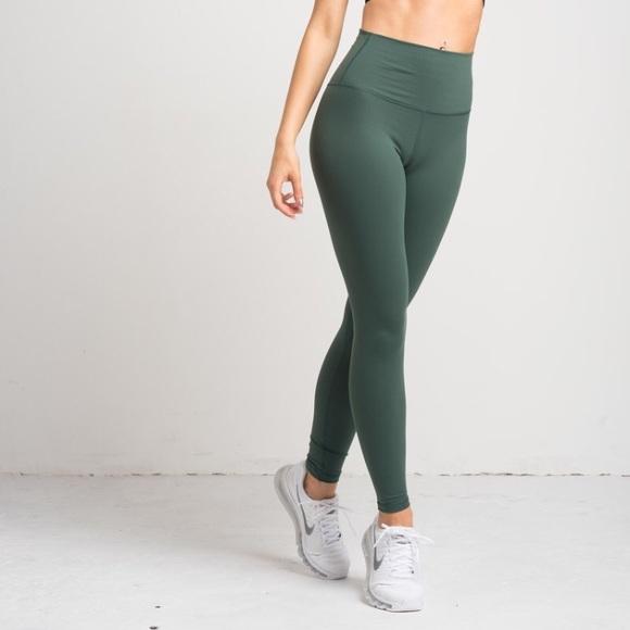 Flexxfit Pants Jumpsuits Full Length Leggings Sage Xs Poshmark